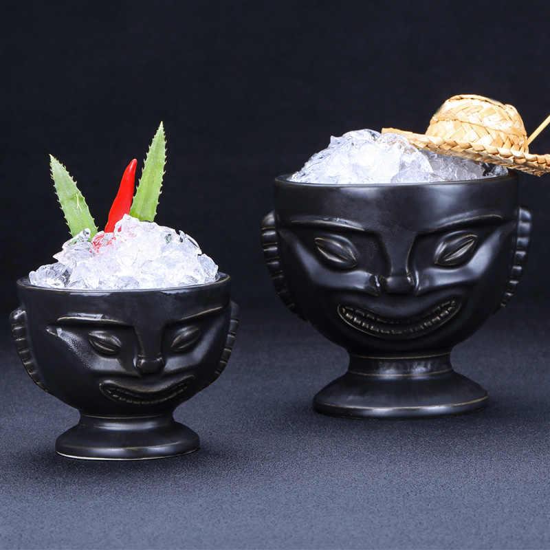 Фото Ретро Коктейль бар керамическая чашка личность Гавайские очки тики Тотем