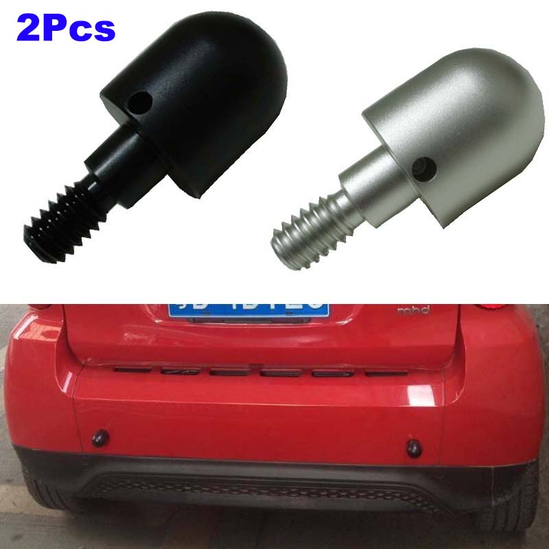 2Pcs Car Rear Bumper Protector Spike Anti Collision Car Styling Tail Guard Safe Kit For Benz SMART Fortwo W 451 W451 2008-2014