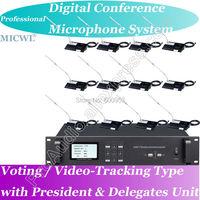 Высокопоставленные micwl проводной цифровой микрофон конференции Системы 1 Председатель 25 делегата с голосования видео отслеживания телекон