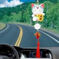 Conducción de La Mascota Gato Lucky Adornos Búho Accesorios Del Coche Colgando Del Espejo retrovisor Colgante de Estilo Para BMW Opel Por Ford Para VW