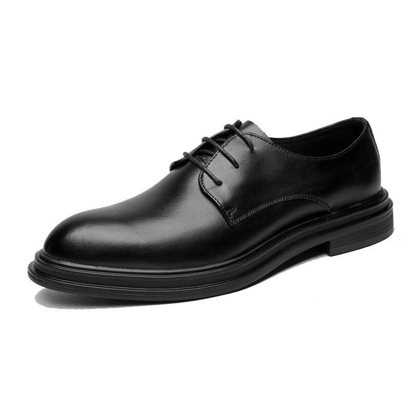 Bureau Leather Élégant black Msw8118122 Black Soft En Formelle Marque Patent Designer Classique Chaussures Luxe Leather De Cuir Hommes rqIr61