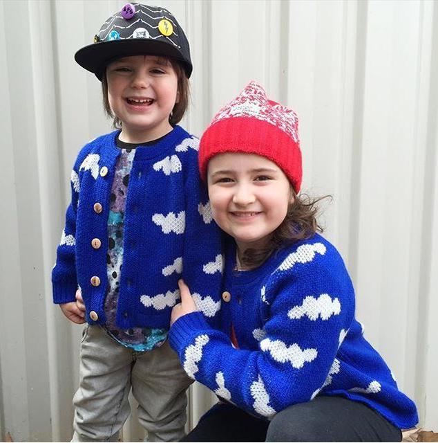 2015 Outono Inverno Crianças bobo choses Cloud Padrão Blusas Crianças Roupas Das Meninas Dos Meninos Do Bebê Camisola de Malha frete grátis