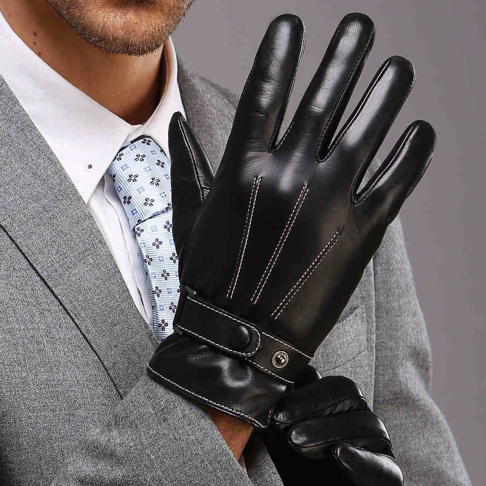 Mens leather gloves thin - 2017 Rushed Guantes Mujer Eldiven Mechanix Warmen Leather Gloves More Male Winter Warm Man Han Edition