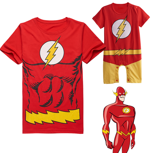 Aliexpress Com Buy The Flash Father And Son Matching Outfits Short
