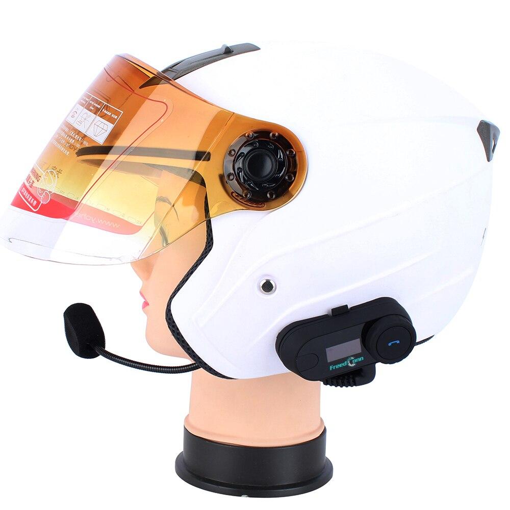 D'origine FreedConn 2 pièces Mise À Jour TCOM-SC BT casque de moto bluetooth Interphone casque d'interphone avec écran lcd + Radio FM - 6