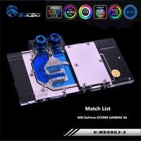 Bykski N MS98G3 X Full Cove GPU Water Block For VGA MSI GeForce GTX980 980ti GAMING Graphics Card Heatsink