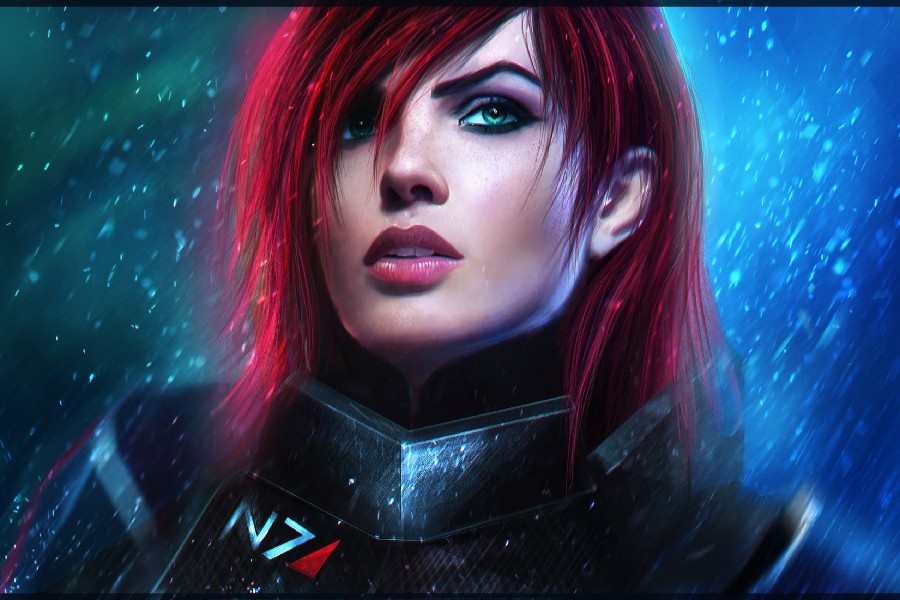 Us 4 05 19 Off Mass Effect 3 Commander Shepard Video Game Poster Silk Fabric Printing Wall Art Decor In Painting Calligraphy From Home Garden On