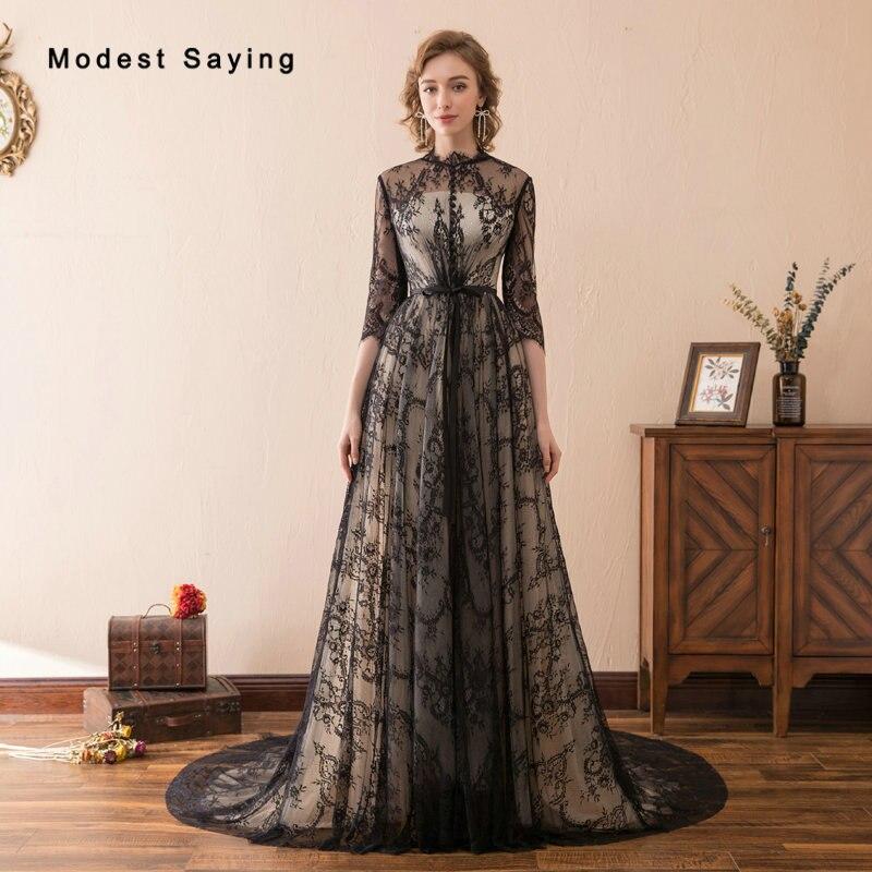 Vintage Lace Gothic Overskirts Wedding Dresses 2018 Plus: Vintage Gothic Black Lace Cover Evening Dresses 2018