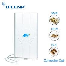 Dlenp 4G LTE MIMO אנטנה 700 2600Mhz עם 2  TS9/ CRC9/ SMA זכר מחברים פנל מאיץ עם 2M כבל 88dBi