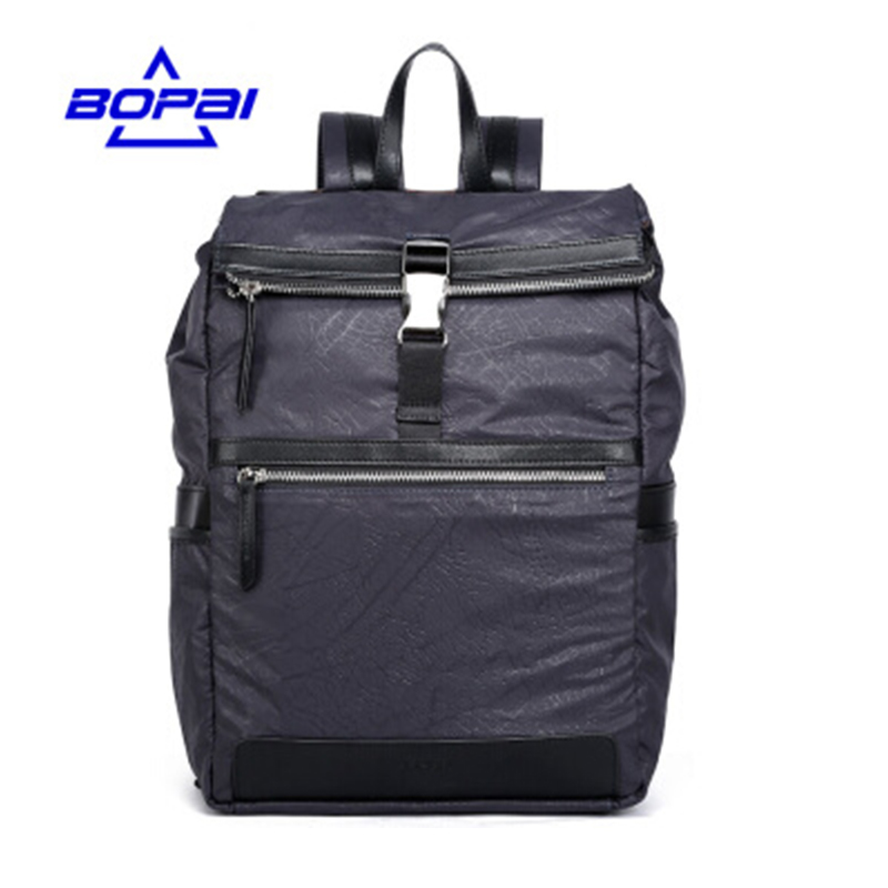 BOPAI Stylish Blue Oxford Men Laptop Backpack Mochila Masculina 14 Inch Man's Backpacks Men's Luggage & Travel bags Wholesale baijiawei men and women laptop backpack mochila masculina 15 inch backpacks luggage