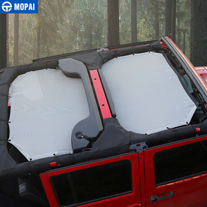 Image 5 - Mopai 2/4 ドア車トップサンシェードカバー屋根の抗uv太陽保護メッシュネットジープラングラーjk 2007 2017 車アクセサリースタイリング