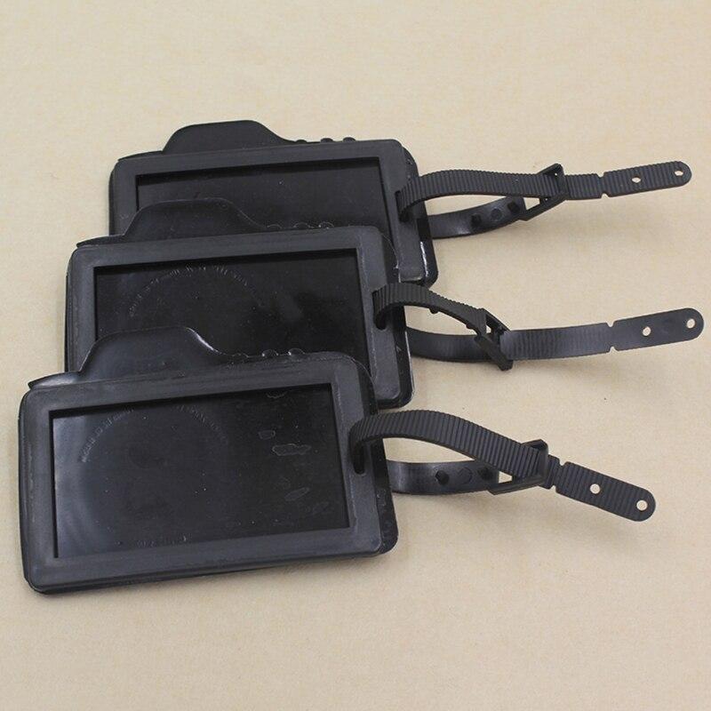 THINKTHENDO Balck Camera Shape Suitcase Luggage Tags Name Address Holder Holiday Identifier Label PVC New Fashion