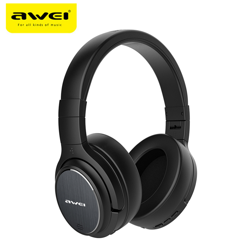 Original Awei A950BL ANC Noise Reduction Bluetooth Headset Wireless Headband Over-ear Headphone with Mic For Gaming Sports lnmbbs tablets wifi kids android 5 1 10 1 inch quad core 3g fm otg gps 1280 800ips 2gb ram 32gb rom multi dhl free shipping game