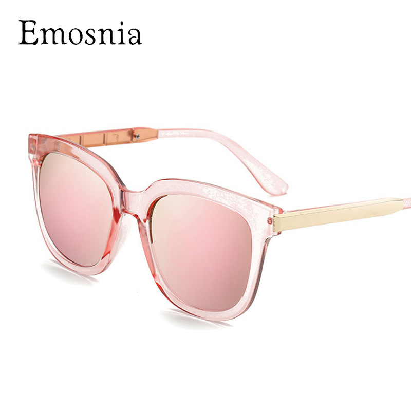 Emosnia Pink Square Vintage Sunglasses Women Men Oversized Retro Shades Sunglass New Big Mirror Brand Designer Classic Eyewear