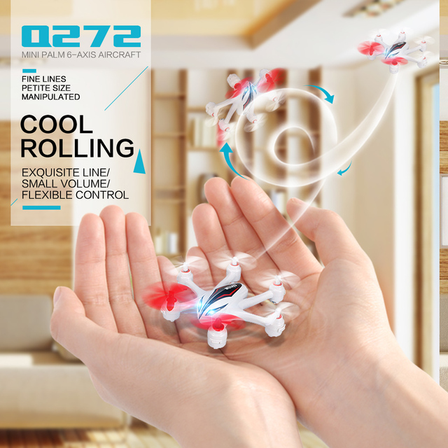 WLtoys Q272 2.4G 4CH 6Axis Mini RC Hexacopter Quadcopter with 3D Tumble/Headless Mode,Remote Control Helicopter Mini drone