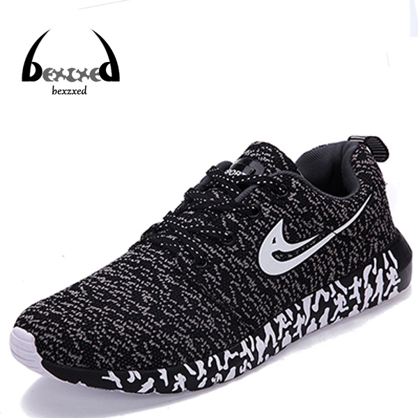[bexzxed]New Men Women Shoes Casual Mixed Color Breathable Mesh Canvas Flat Sport Walking Shoes Mens Trainers Basket Zapatillas