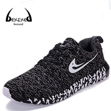 Plus size New Men  Shoes Casual Mixed Color Breathable Mesh Canvas Flat Sport Walking Shoes Mens Trainers Basket Zapatillas
