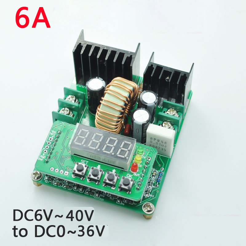 DC-DC high power 12V 5V digital control step-down module 5A constant voltage constant current led drive adjustable voltage гарнитура koss bt190iw вкладыши белый серый беспроводные bluetooth