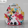 TEMENA  Insulated Neoprene lunch Bag Thermal Food Picnic Lunch Bags for Women kids Men Cooler Lunch Box Bag Tote BLB394H