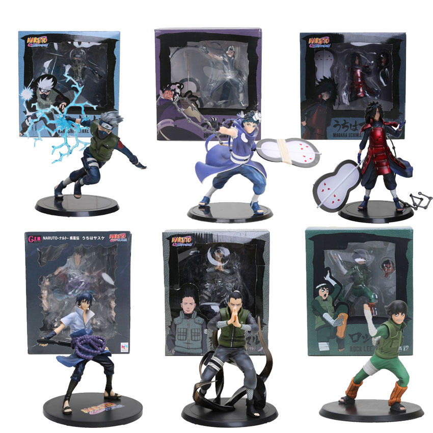 Naruto Hatake Kakashi Uchiha Obito Madara Sasuke Nara Shikamaru Rock Lee Tsume Xtra Ver. PVC Figure Collectible Model toy cool naruto action figure toys nara shikamaru hatake kakashi anime pvc toys model 15 generation naruto gifts art toys collection