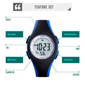Image 3 - SKMEI montre chronographe étanche pour enfants 50M, montre Bracelet Sport, pour garçons et filles, mode