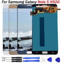 Note5 AMOLED LCD For Samsung Galaxy Note 5 N920 SM-N920F Display Screen replacement for N920A N9200 lcd display