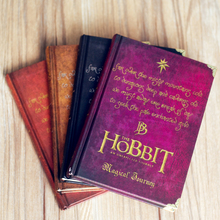 Vintage Movie Character Notebook Hobbit Magic Classic Movie Planner Notepad Stationery Books Birthday Gift 4colors High Quality
