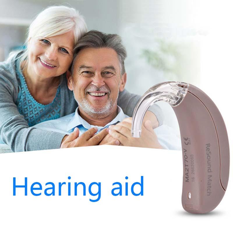 Mini prothèse auditive amplificateurs sonores invisibles prothèses auditives réglables derrière l'oreille dispositif de perte profonde sévère personnes âgées CCP026