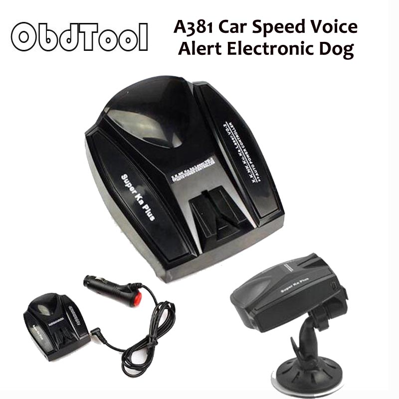 ObdTooL Anti Radar Car Speed Detector,A381 Car Speed Voice Alert Electronic Dog Radar Detector English and Russian E09