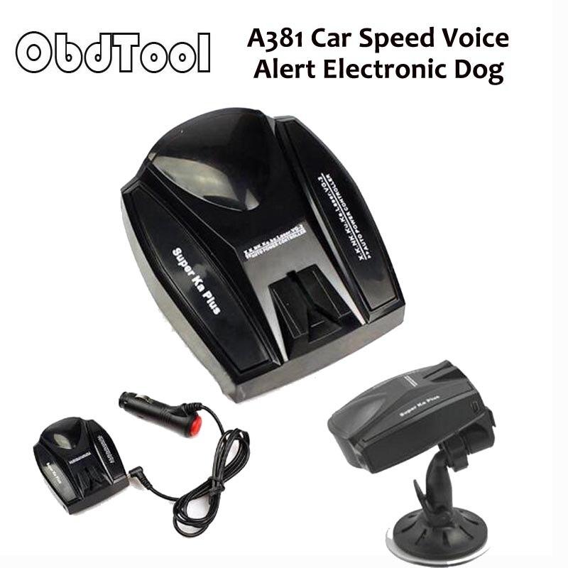 Obdtool Анти радар автомобилей Скорость детектор, A381 автомобиля Скорость голосового оповещения электронная собака Антирадары русский и английский e09