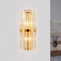 Modern LED Wall Lamp Gold Crystal Wall Sconces For Living Room Bedroom Bedside Wall Lights luminaire Fixtures Indoor Lighting