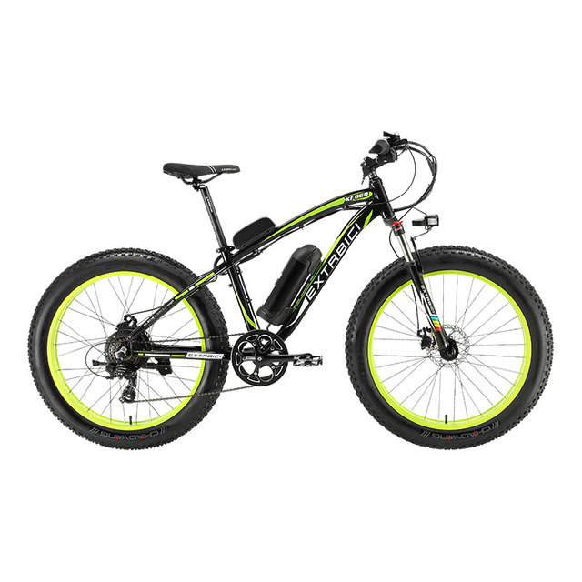 """Cyrusher XF660 48 В 500 Вт Li-батарея электрический снег горный велосипед 7 s 26 """"4,0 жира шин пляж ebike гидравлические дисковые тормоза"""