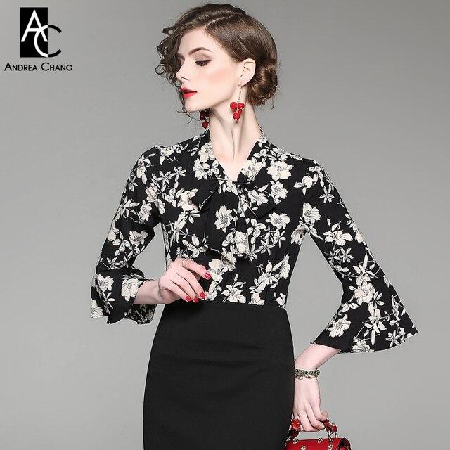 printemps t piste designer femme chemises chemisier noir sexy vintage chemisier blanc fleur. Black Bedroom Furniture Sets. Home Design Ideas
