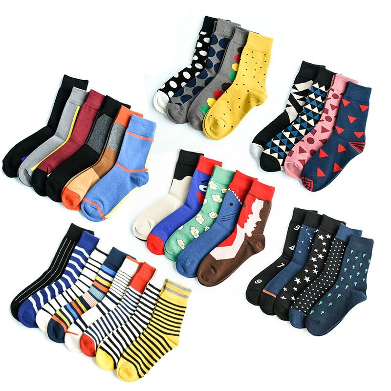 Men&Women Happy   Socks   Funny with Cartoon Animal Bomb Design Wedding Gift Combed Cotton Breathable Dress Neutral   Socks   Eur36-43