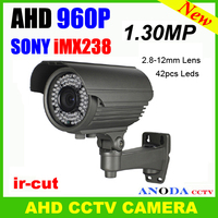High Definition CCTV 960P AHD Camera 2 8 12MM Lens Motion Sensor Osd Menu Surveillance Video