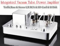 Douk Audio Desktop HiFi Vacuum Tube Amplifier Stereo Audio Integrated Hybrid Power Amp Support USB SD