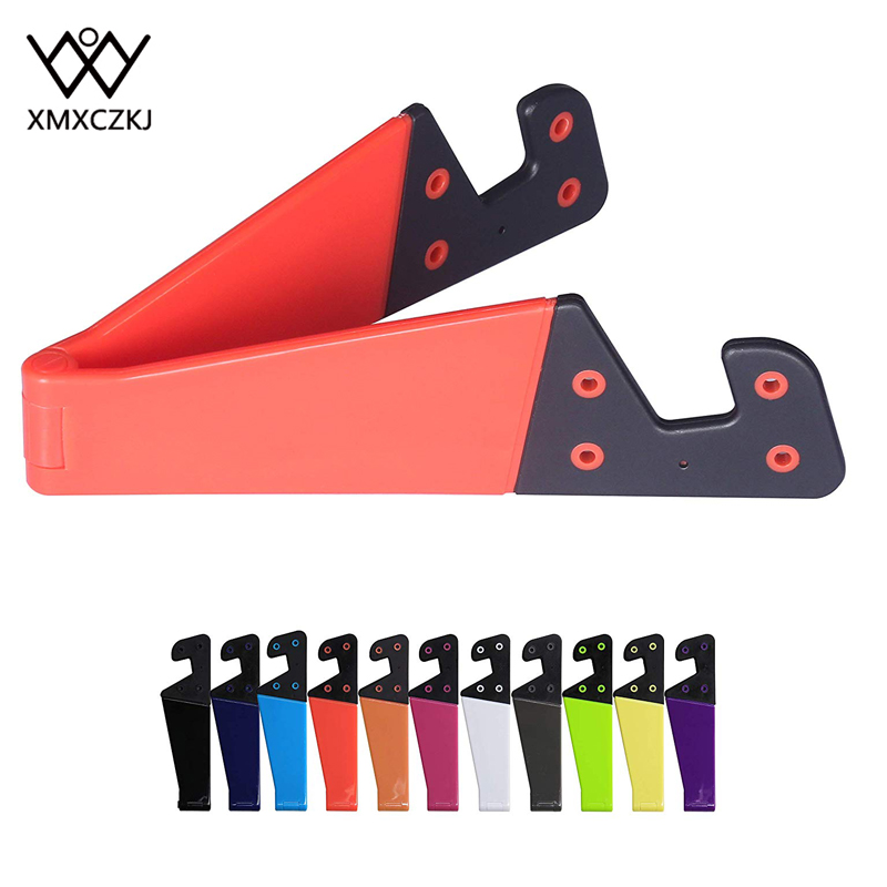 XMXCZKJ Universal Plastic Pocket-Sized V Smart Mobile Cell Phone Holder For Iphone X HuaWei Tablet Stand Desktop Stand Mount