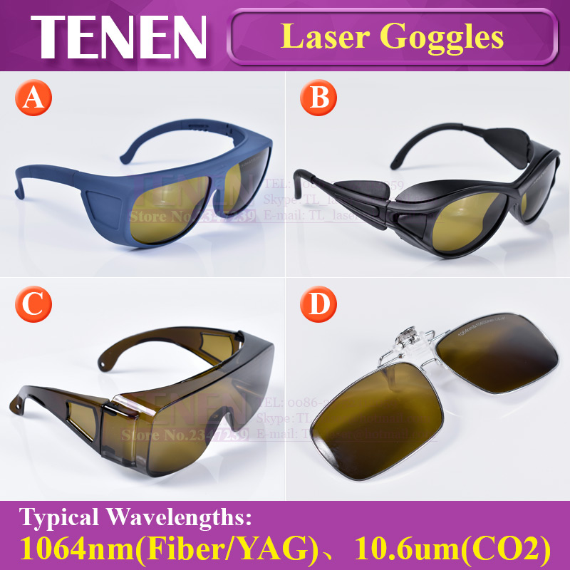 1064nm 10600nm Laser Safety Goggles Protective Glasses Shield Protection Eyewear For YAG Fiber CO2 Laser Cutting Welding Machine-in Woodworking Machinery Parts from Tools