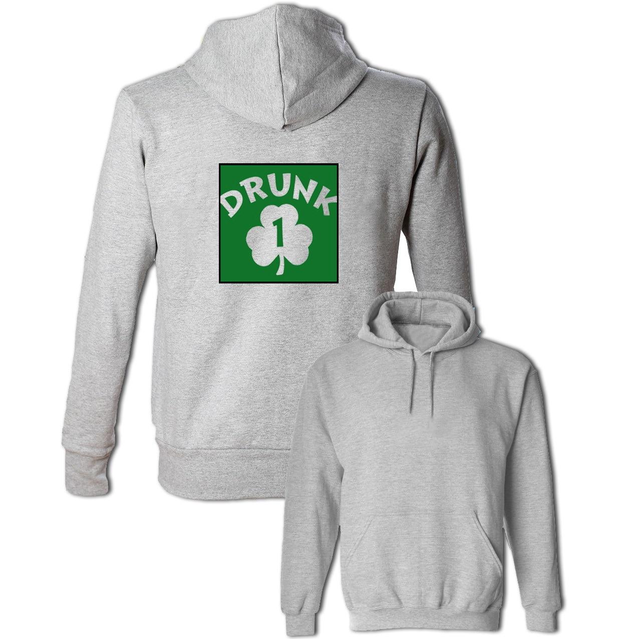 Drunk 1 Shamrock Irish Hoodie Mens Womens Boys Girls Sweatshirt Special Design Long Sleeve Pullover Tops Fashion Unisex Jacket