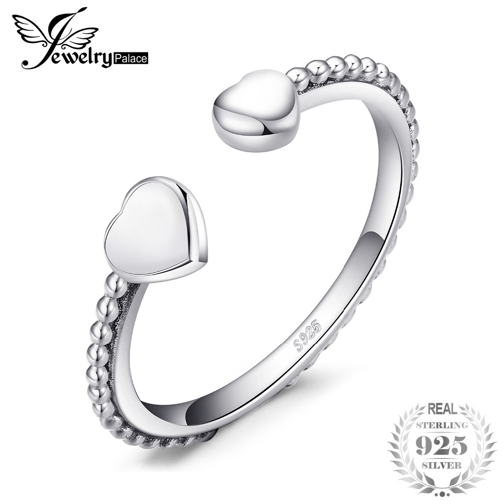 JewelryPalace 925 Sterling Silver Two Heart Open Ring 925 SterLing SiLver Gifts For Her Anniversary Fashion Jewelry New ArrivalJewelryPalace 925 Sterling Silver Two Heart Open Ring 925 SterLing SiLver Gifts For Her Anniversary Fashion Jewelry New Arrival