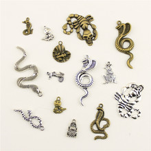 Fashion Jewelry Making Animal Frog Snake Scorpion Jewelry Findings Components Mix Pendant(China)