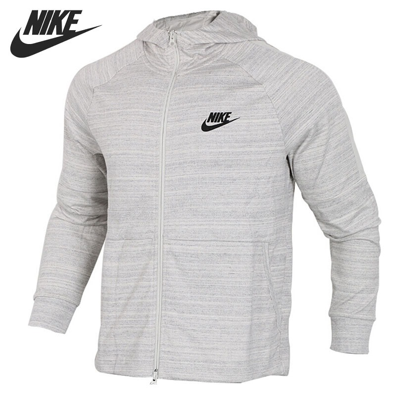 US $102.34 18% OFF|Original New Arrival NIKE NSW AV15 HOODIE FZ KNIT Men's Jacket Hooded Sportswear in Running Jackets from Sports & Entertainment on