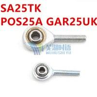 2 pçs/lote 25mm rod end SA25TK POS25A GAR25UK macho rosca junta esférica extremidades da haste 25mm de diâmetro interno