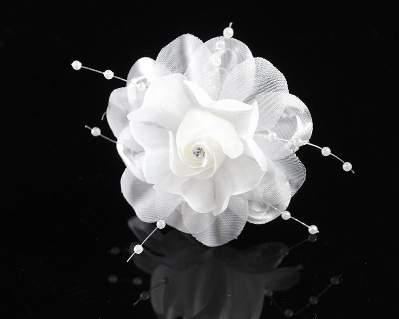 clips de pelo de la flor artificial del banquete de boda nupcial tocados de flores pinzas