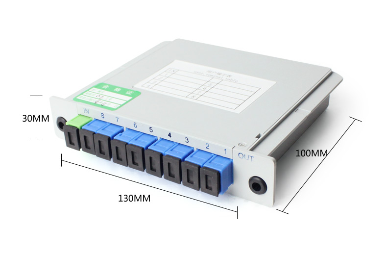 SC-UPC PLC 1X8 Single mode splitter Fiber Optical Box 1x8 PLC Splitter box FTTH PLC Splitter 1x8 with SC/UPC connector