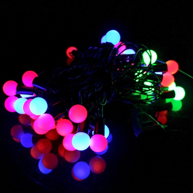 Axeshine garland balls outdoor lighting led strip 5m 40 leds string axeshine garland balls outdoor lighting led strip 5m 40 leds string light neon lamp party christmas aloadofball Gallery