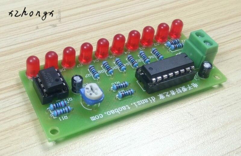 XNWY NE555+CD4017 White LED Marquee Light DIY Kit Running Flow LED Electronic Suite