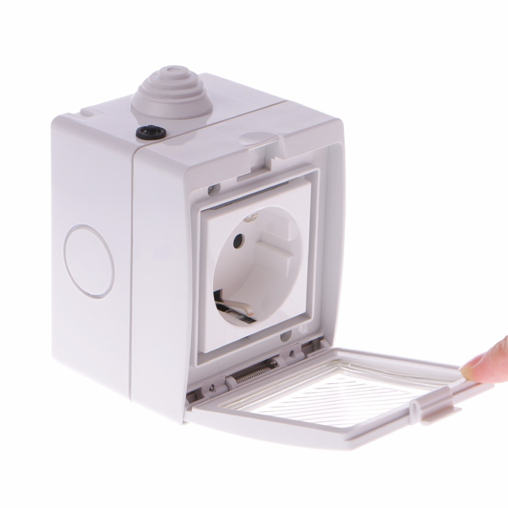Wireless Smart WIFI Control Socket IP55 Waterproof Sockets Home Remote Timer Outdoor