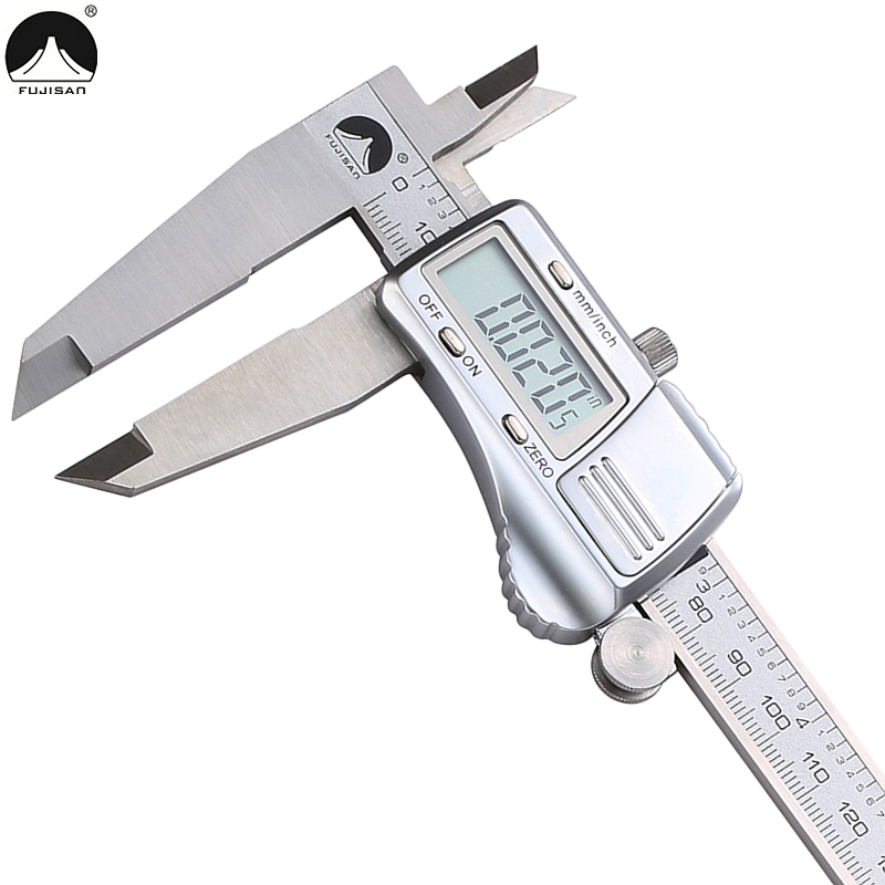 FUJISAN 0-300mm/0.01mm Digital Caliper Metric/Inch Electronic Vernier Calipers Stainless Steel Micrometer Gauge Measuring Tools shan 12 0 300mm 0 01 electronic digital calipers micrometer inch mm vernier caliper gauge large lcd display measuring tools
