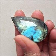DHXSW подвеска в форме слезы из Лабрадорита, лечебный кристалл, лунный камень, подвеска из драгоценных камней для самостоятельного изготовлен...